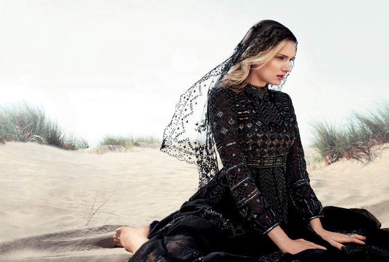 Lily Donaldson stars in Harper's Bazaar UK October issue