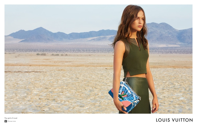 Alicia Vikander stars in Louis Vuitton's cruise 2016 campaign with the Steamer bag