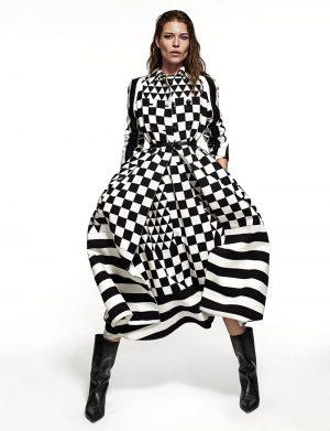 Louise Pedersen Embraces Bold Prints in ELLE Spain by Xavi Gordo