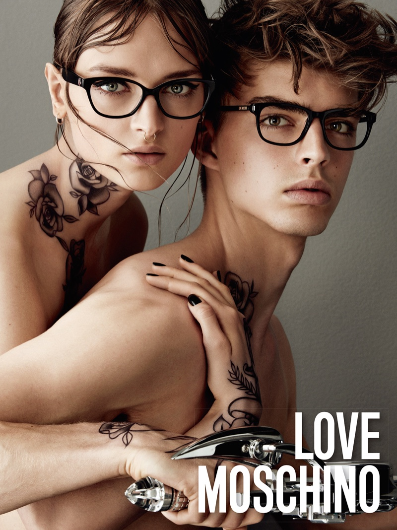 Daga Ziober Sports Tattoos for Love Moschino Campaign