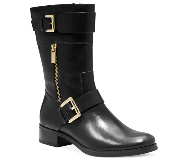 MICHAEL by Michael Kors Leather Flat Boots
