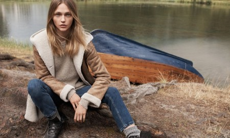 Sasha Pivovarova stars in Mango's fall style edit