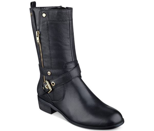 Marc Fisher Leather Moto Boots
