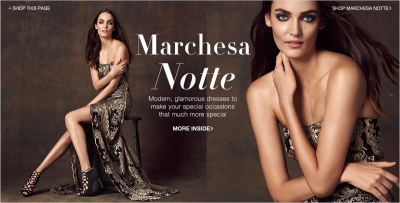 Marchesa Notte Strapless Gown, Aurelie Bidermann Ring, Alexandre Birman Lace-up Heels