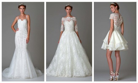 Looks from Marchesa's fall 2016 bridal collection