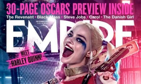 Margot Robbie as Harley Quinn on Empire December 2015 cover