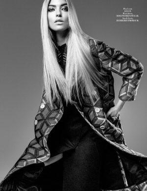 Martha Hunt Models Sleek Fashions for L'Officiel Malaysia