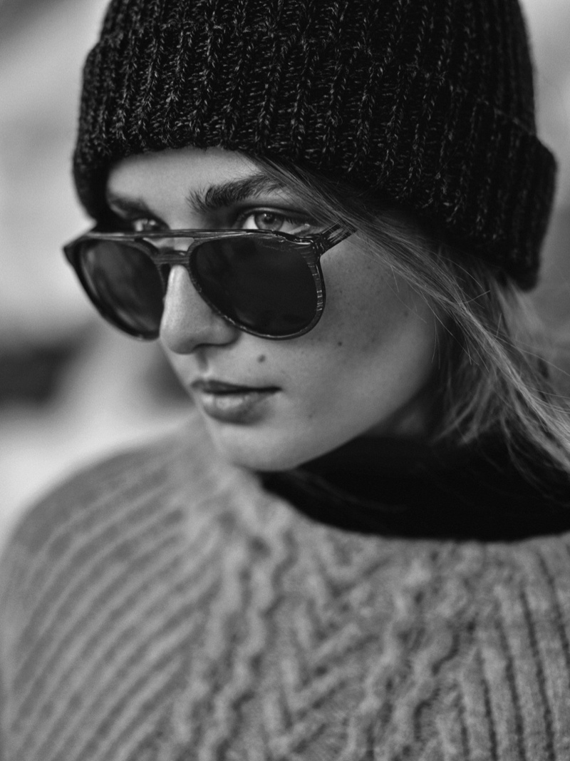 Model Andreea Diaconu stars in the campaign