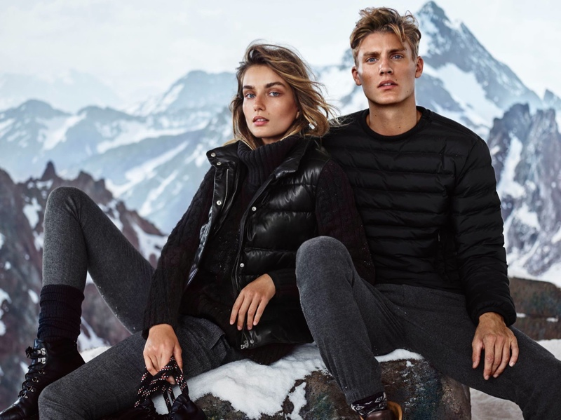 Andreea Diaconu Bundles Up in Massimo Dutti's Après Ski Collection