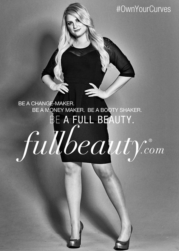 Singer Meghan Trainor flaunts her curves in a new campaign for plus-size brand, FullBeauty. The 22-year-old became famous for her hit song 'All About That Bass' which celebrates curves.