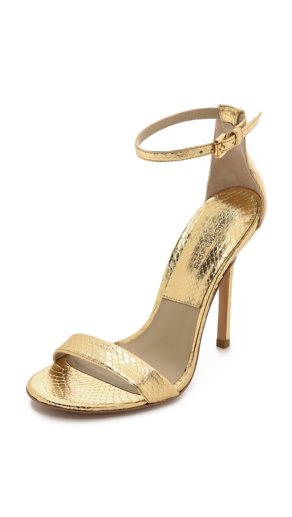 Michael Kors Gold Snake Sandals
