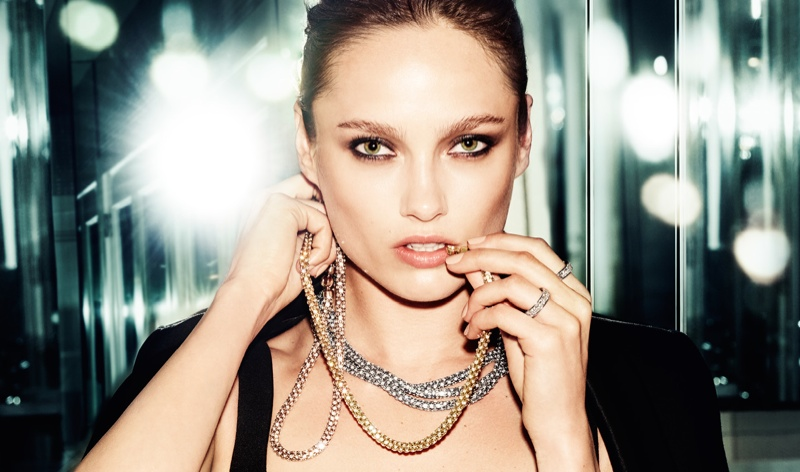 Karmen models Michael Kors jewelry including necklaces and rings