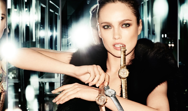 Karmen sports a trio of Michael Kors watches