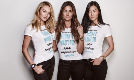 Candice Swanepoel, Lily Aldridge and Liu Wen for Michael Kors Watch Hunger Stop Campaign