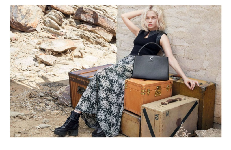 Michelle Williams for Louis Vuitton 'Spirit of Travel' 2015 campaign