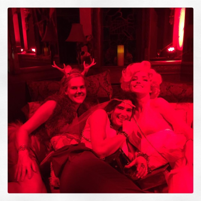 Miranda Kerr celebrates an early Halloween with her friends