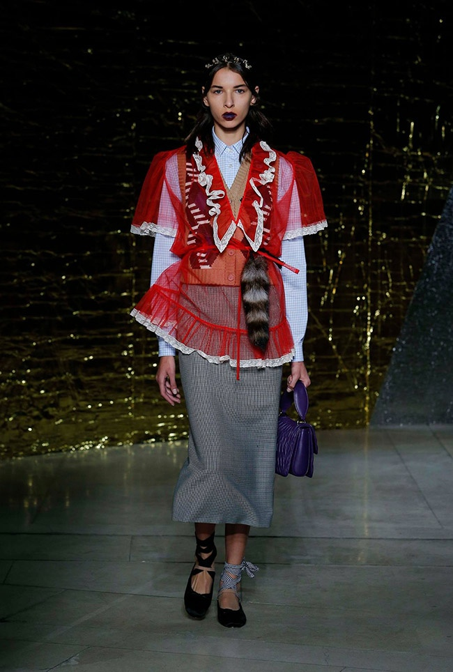 A look from Miu Miu's spring 2016 collection
