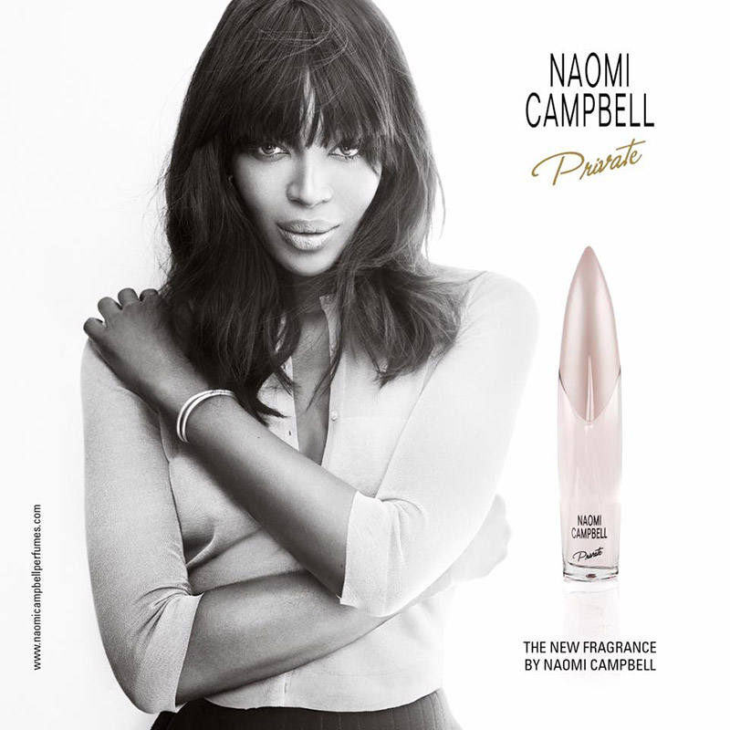 Naomi Campbell Private Fragrance campaign