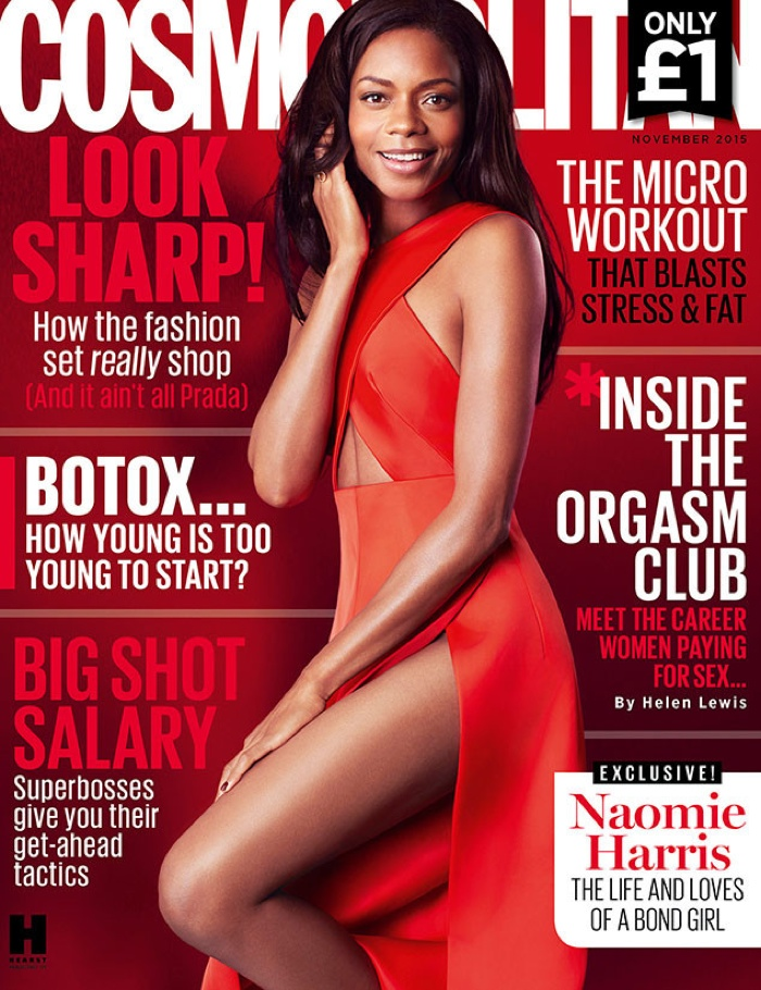 Naomie Harris on Cosmopolitan UK November 2015 cover