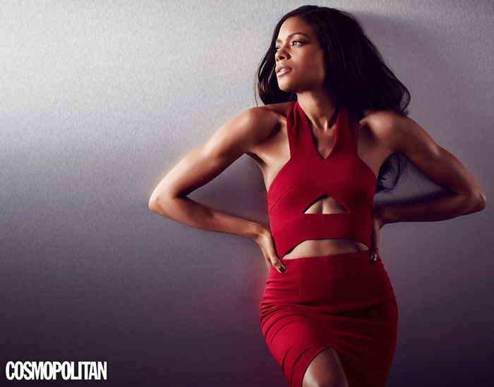 Naomie Harris poses for Cosmopolitan UK's November issue