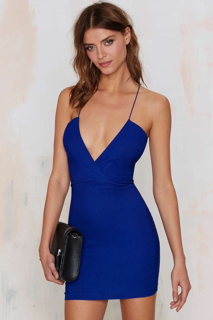 Nasty Gal Bodycon Dress in Blue