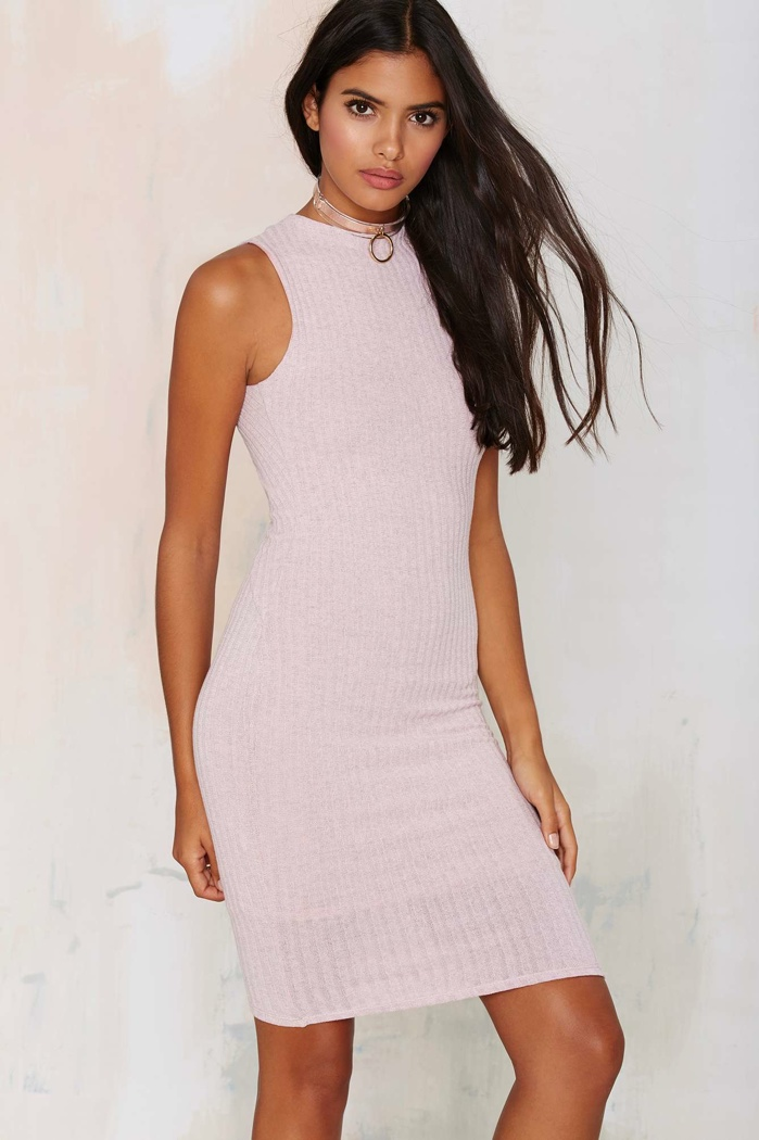 Nasty Gal Ma Cherie Ribbed Cutout Dress