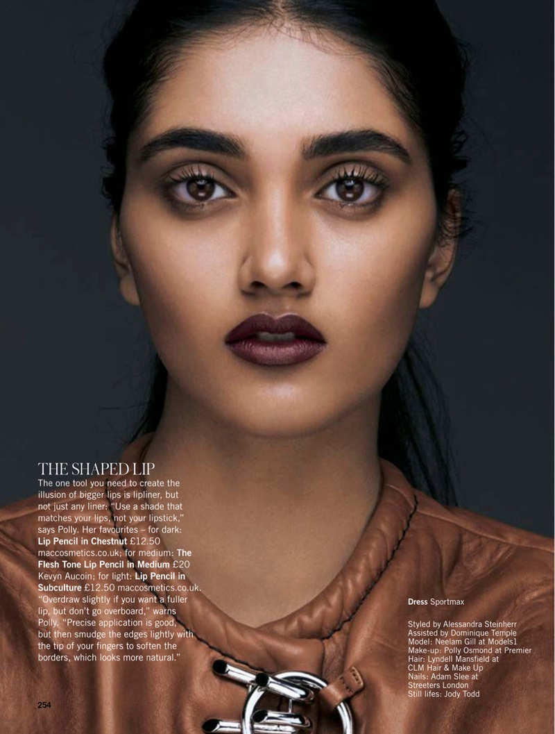 Neelam models fall beauty trends in the editorial