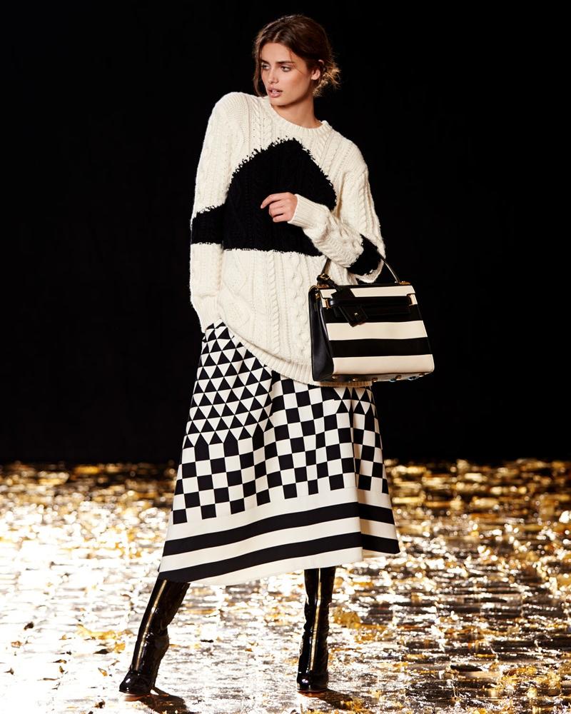 73da8c02e673 ... Valentino Cashmere-Blend Intarsia Knit Sweater