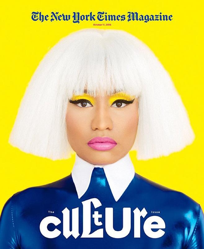 Nicki Minaj Covers New York Times Magazine October 2015