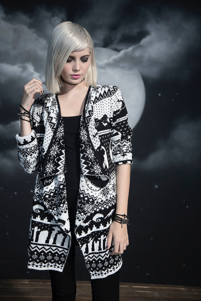 Hot Topic x Nightmare Before Christmas Fair Isle Cardigan