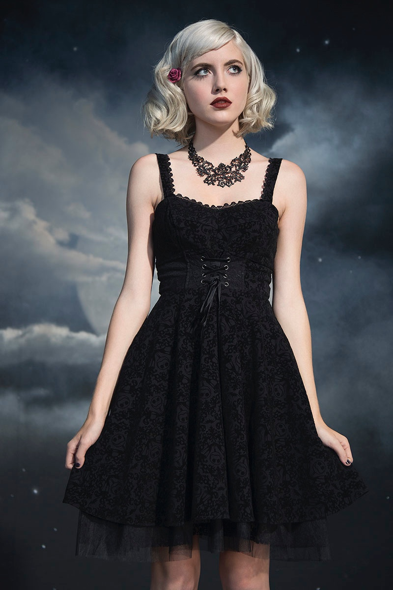 Hot Topic x Nightmare Before Christmas Flocked Dress