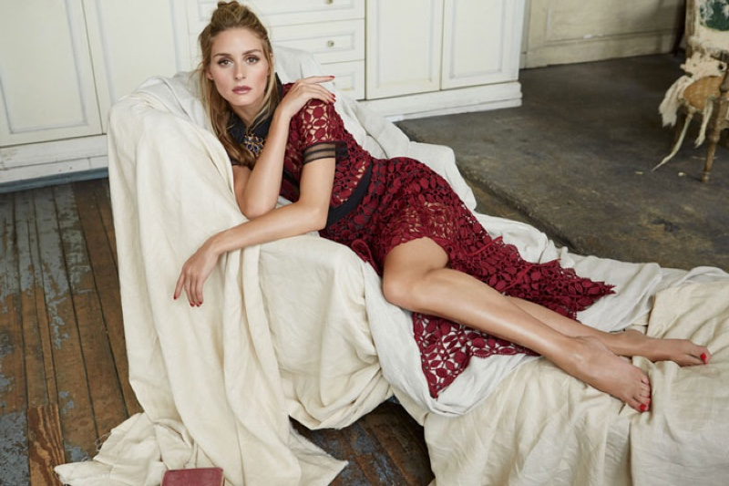 The socialite poses in designer looks from the fall collections