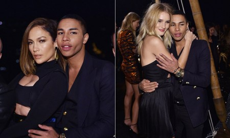 Balmain's Olivier Rousteing threw himself a star-studded birthday party