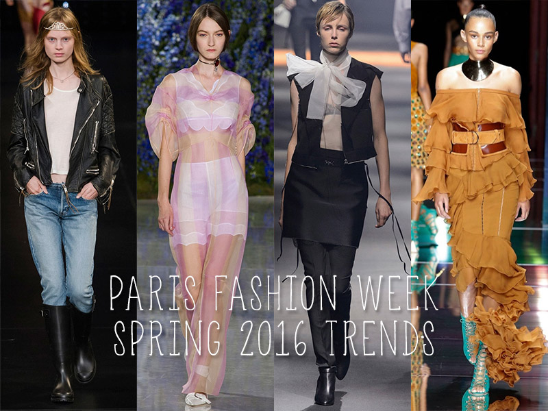 Paris Fashion Week's Top Spring 2016 Trends: From Ruffles to Leather Jackets