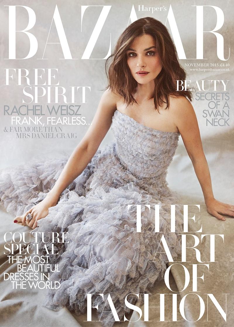 Rachel Weisz on Harper's Bazaar UK November 2015 cover