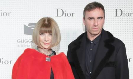 Raf Simons and Anna Wintour at Dior x Guggenheim event. Photo via Dior.
