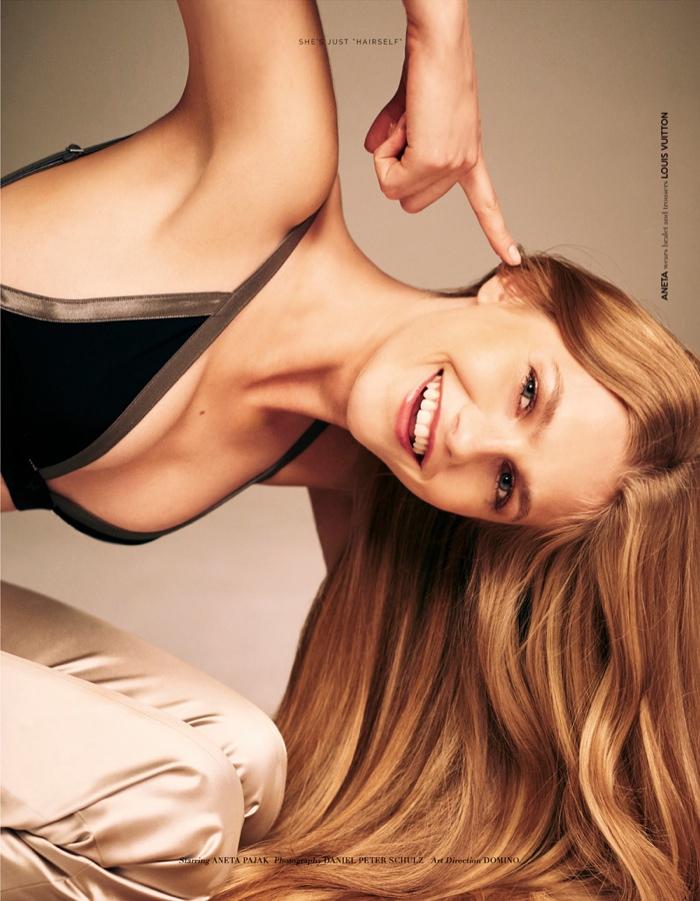 Aneta poses in Louis Vuitton