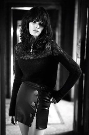 Isabeli Fontana Stuns in Black & White for Redemption Choppers