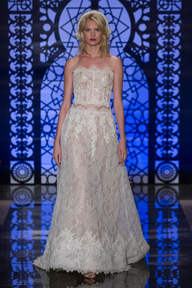 Reem Acra's Fall 2016 Bridal Collection Glitters