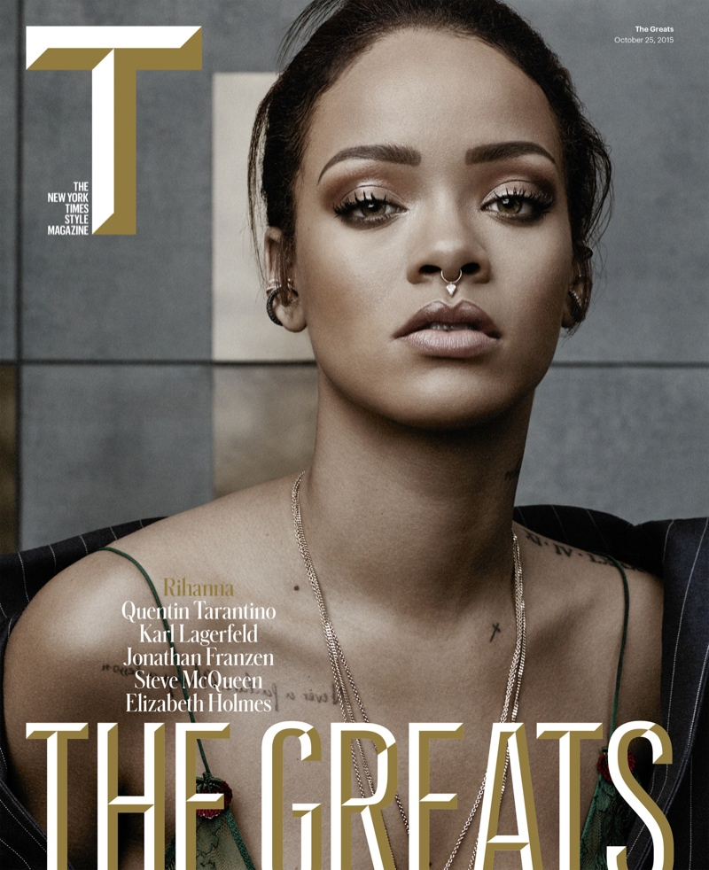 Rihanna on T Style fall 2015 cover