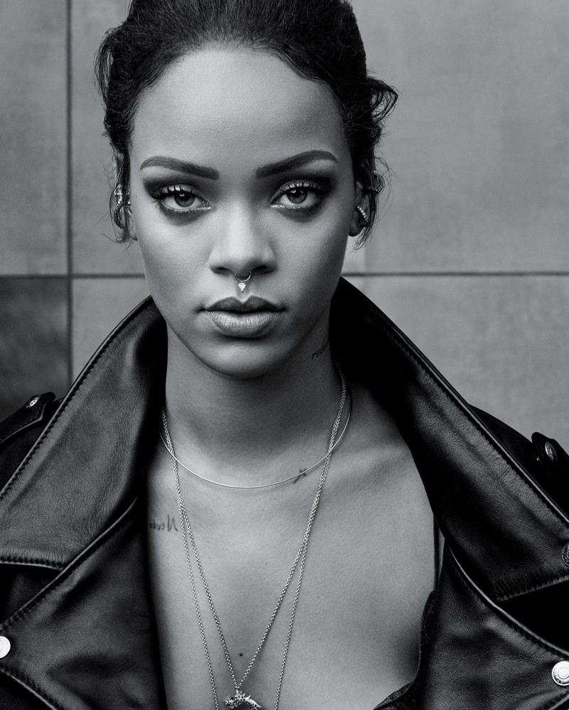 Rihanna Gets Her Closeup for T Style