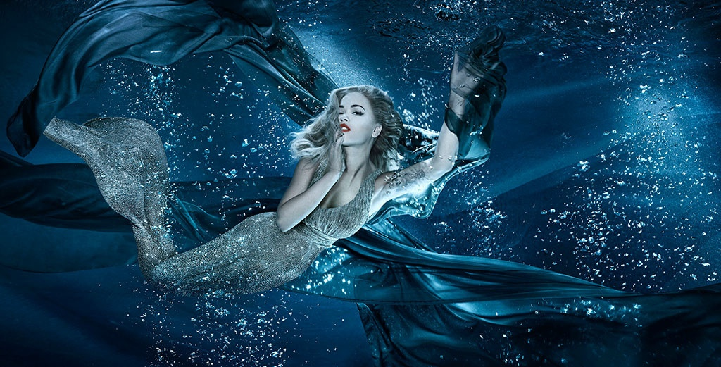 Rita Ora Dazzles as a Mermaid for Sexy Fish