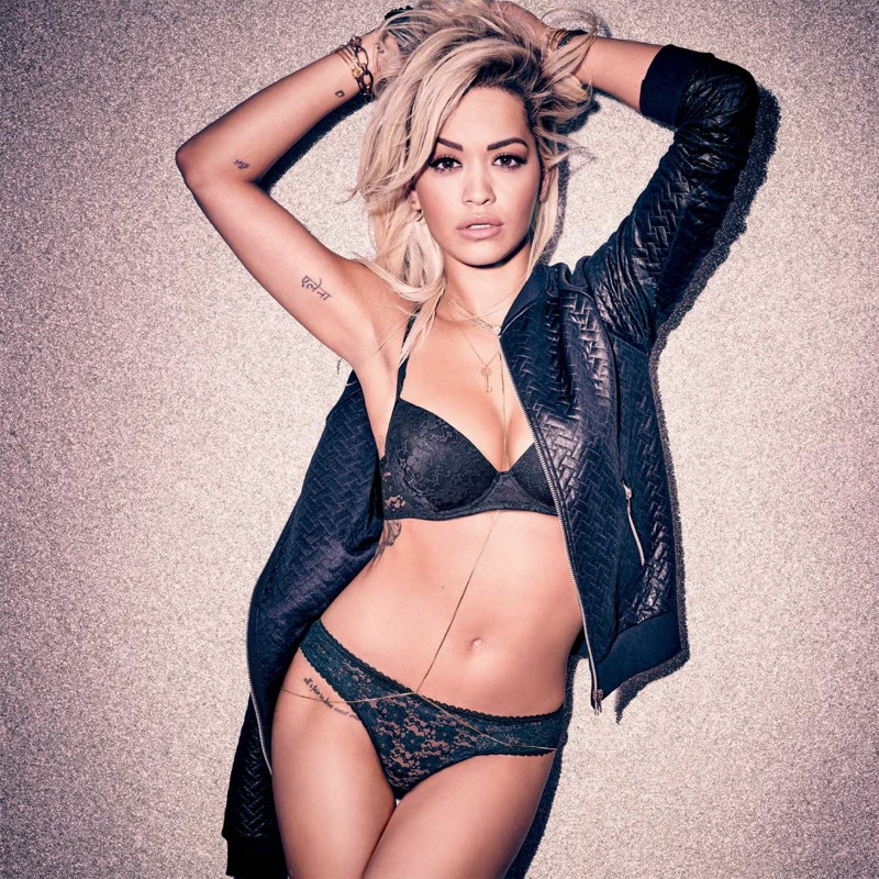 Rita Ora Brings the Heat in New Lingerie Campaign
