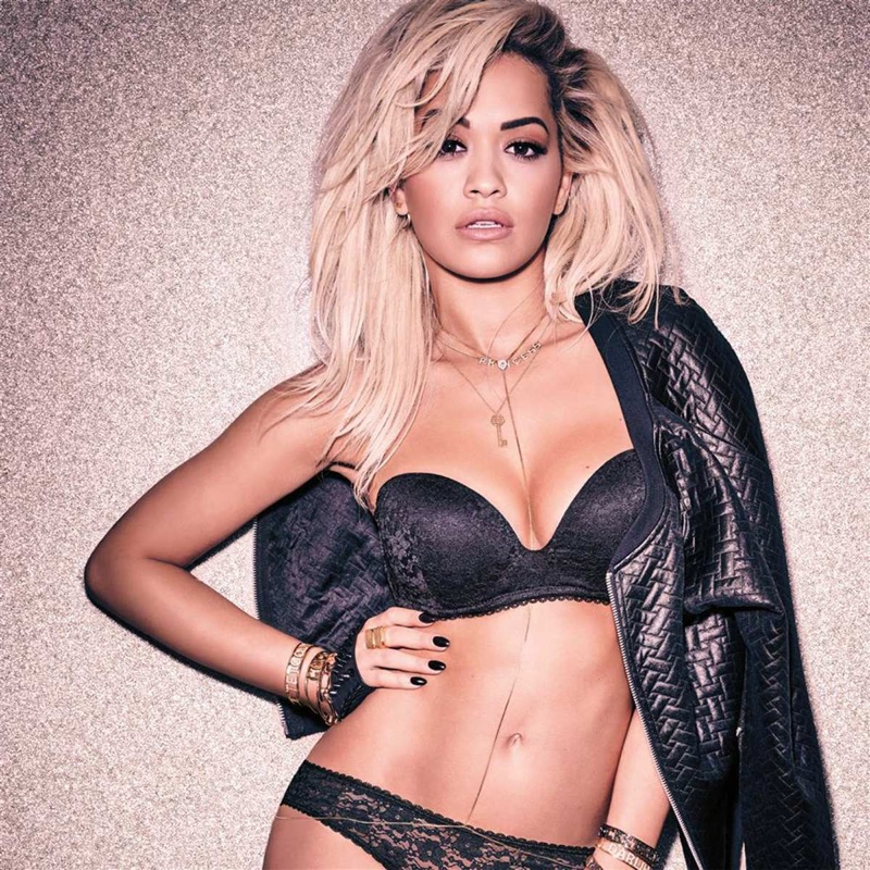 Rita pairs her underwear with a leather jacket