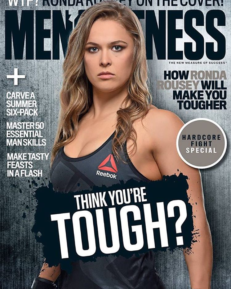 UFC Bantamweight champion Ronda Rousey makes history as the first female to cover Men's Fitness Australia. Ronda currently has over 5.4 million Instagram followers.