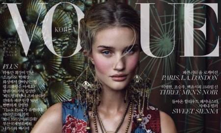 Rosie Huntington-Whiteley on Vogue Korea November 2015 cover