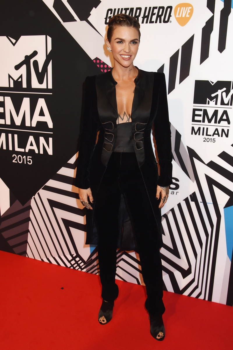 Ruby Rose at the 2015 MTV EMAs red carpet. Photo: Jeff Kravitz / FilmMagic