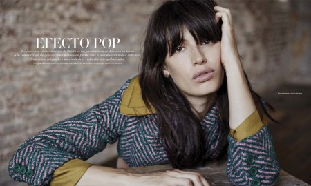 Sabrina models Prada looks for L'Officiel Mexico's November issue