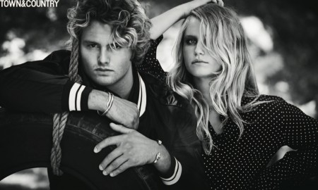Brother and sister Jack and Sailor Brinkley-Cook pose for Town & Country's November issue