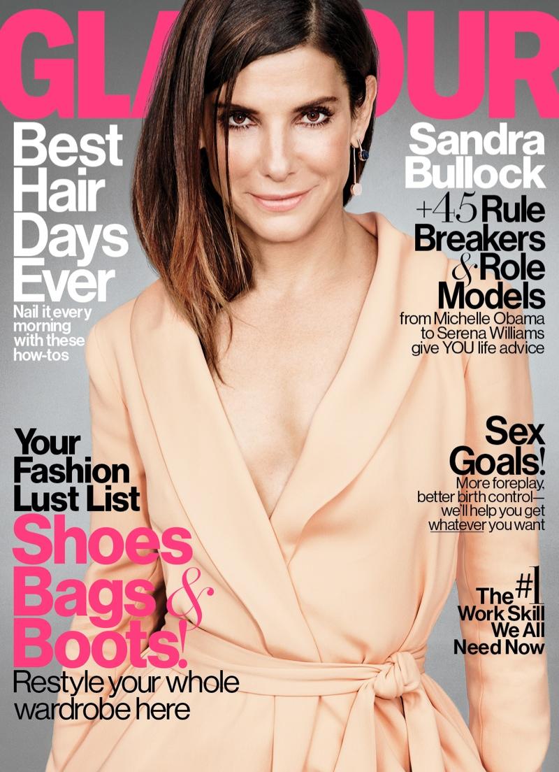 Sandra Bullock - Glamour Magazine`s  November 2015